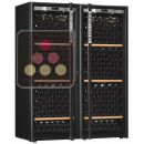 Combination of 2 single temperature wine cabinets for ageing and/or service ACI-TRT710NS