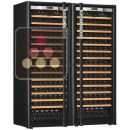 Combination of 2 single temperature wine cabinets for ageing and/or service ACI-TRT710NC