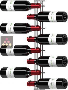 support mural de 8 bouteilles de 75cl en position horizontale visiorack aci vis600 ma cave vin. Black Bedroom Furniture Sets. Home Design Ideas