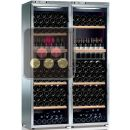 Combined 2 Single temperature wine service & storage cabinets ACI-CAL321-SP