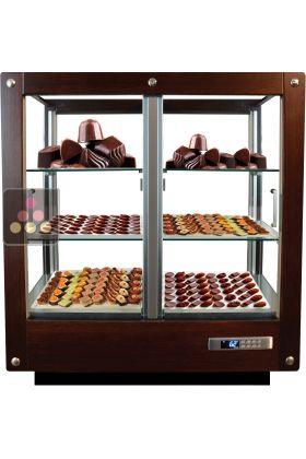 vitrine 4 faces r frig r e de conservation des chocolats. Black Bedroom Furniture Sets. Home Design Ideas