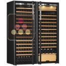 Combination of a single temperature wine cabinet and a 3 temperatures multipurpose wine cabinet ACI-TRT711NC