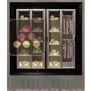 Combination of two modular built in cheese and delicatessen cabinets on iron stand ACI-PAR2311EFC
