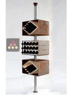 Porte Bouteilles Vertical De Trois Modules Rotatifs Pour