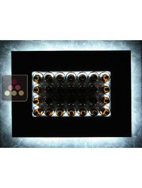 mur de 28 bouteilles de 75cl en position horizontale enoofficina aci eof301 ma cave vin. Black Bedroom Furniture Sets. Home Design Ideas