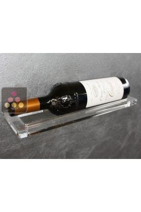 support mural en plexiglas pour 1 bouteille enoofficina aci eof500 ma cave vin. Black Bedroom Furniture Sets. Home Design Ideas