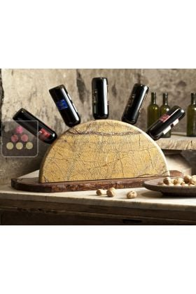 pr sentoir bouteilles de table en pierre et en bois it 39 s stone aci its140 ma cave vin. Black Bedroom Furniture Sets. Home Design Ideas