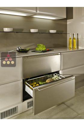 r frig rateur tiroirs fa ade inox norcool aci nor111 ma cave vin. Black Bedroom Furniture Sets. Home Design Ideas