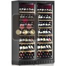 Built-in combination of 2 single-temperature wine cabinets for service or storage ACI-CAL648EP