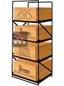 rangement vin range caisse bois modulorack sur ma cave vin. Black Bedroom Furniture Sets. Home Design Ideas