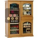 Gourmet combination : Single-temperature wine cabinet, cheese cabinet & cigar humidor ACI-CAL425