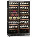 Combiné encastrable de 2 caves à vin mono-température de conservation ou de service à portes coulissantes ACI-CAL220EP