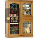 Gourmet combination : Dual temperature wine cabinet, cheese cabinet & cold meat cabinet ACI-CAL443