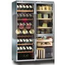 Combination of a multi-temperature wine cabinet, a cheese cabinet and a delicatessen cabinet ACI-CAL776P