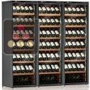 Combiné de 3 caves à vin mono-température de service ou de conservation ACI-CAL224P