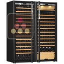 Combination of a single temperature wine cabinet and a 3 temperatures multipurpose wine cabinet ACI-TRT711NC-1