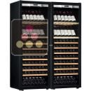 Combination of 2 single temperature wine ageing or service cabinet - Full Glass door ACI-TRT710FP