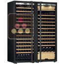 Combination of a single temperature wine cabinet and a 3 temperatures multipurpose wine cabinet - Full Glass door ACI-TRT711FC