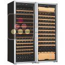 Combination of a single temperature wine cabinet and a multipurpose wine cabinet ACI-ART253TC