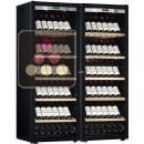 Combination of 2 single temperature wine ageing or service cabinet - Full Glass door ACI-TRT710FP1