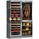 Built-in combination of a multi-temperature wine cabinet, and a cheese & delicatessen cabinet ACI-CAL775ETC
