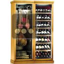 Combination of a Multi-temperature Wine Cabinet and a Single Temperature Delicatessen Cabinet ACI-CLC748P
