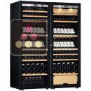Combiné d'une cave à vin mono-température et d'une cave multi-usages 3 températures - Porte Full Glass ACI-TRT711FM
