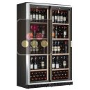 Combined 2 built-in single temperature wine cabinets with sliding doors ACI-CLP220EV